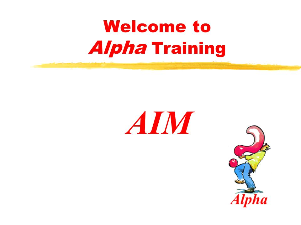Welcome to Alpha Training