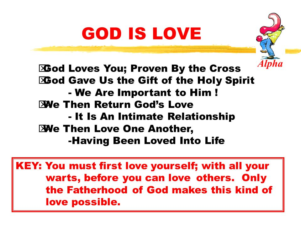 GOD IS LOVE God Loves You; Proven By the Cross