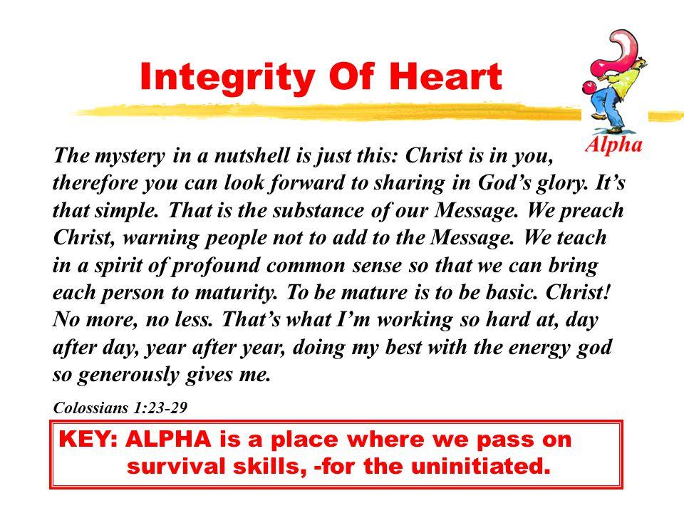 Integrity Of Heart