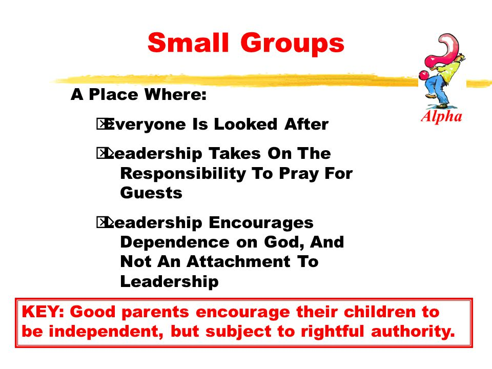Small Groups A Place Where: Everyone Is Looked After