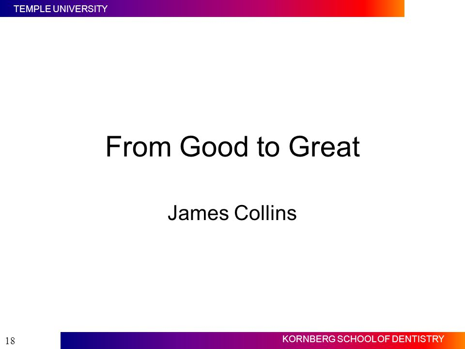 From Good to Great James Collins Slide #18