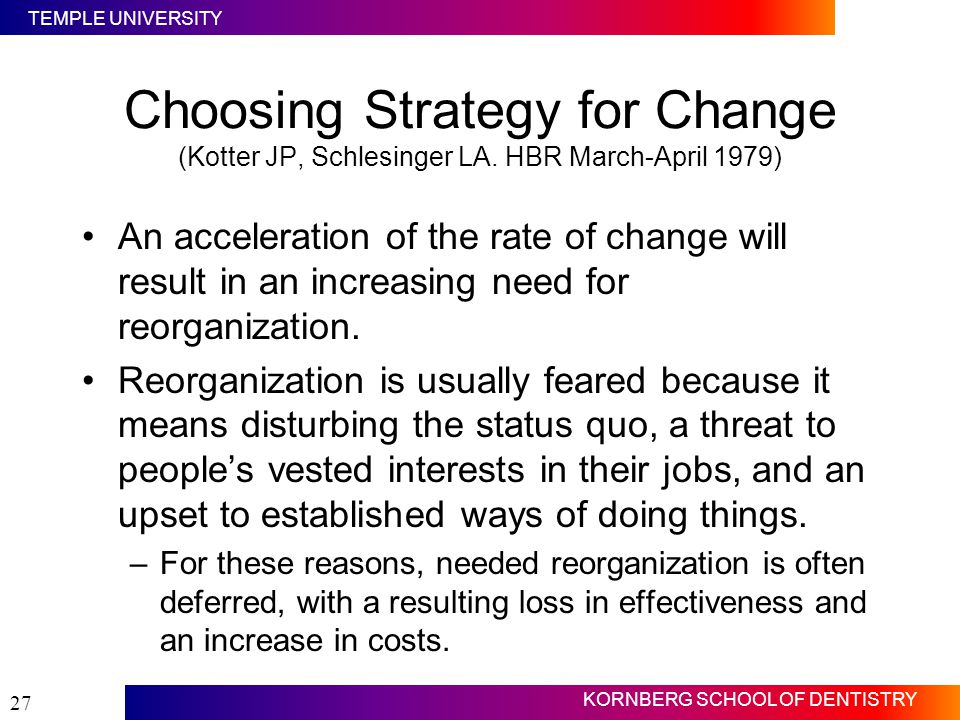 Choosing Strategy for Change (Kotter JP, Schlesinger LA