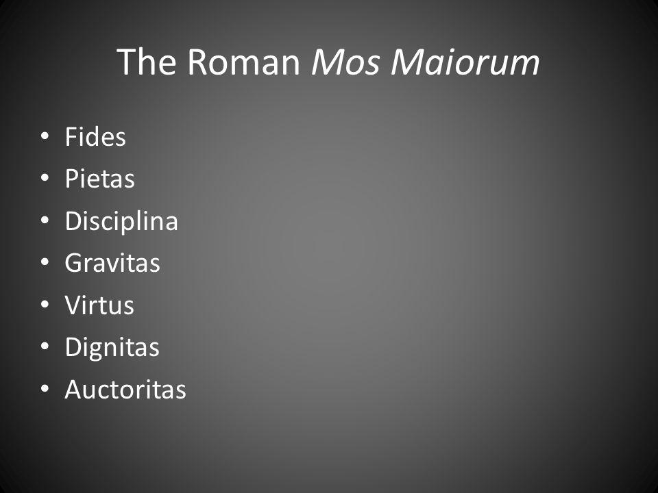 The Roman Mos Maiorum Fides Pietas Disciplina Gravitas Virtus Dignitas