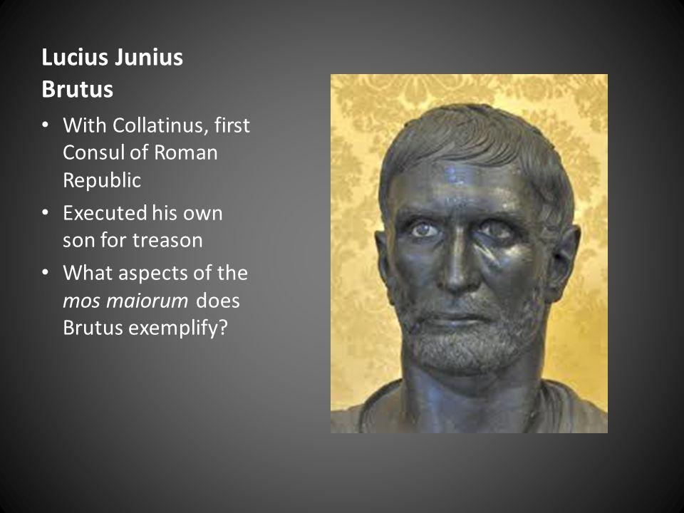 Lucius Junius Brutus With Collatinus, first Consul of Roman Republic