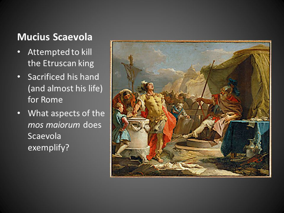 Mucius Scaevola Attempted to kill the Etruscan king