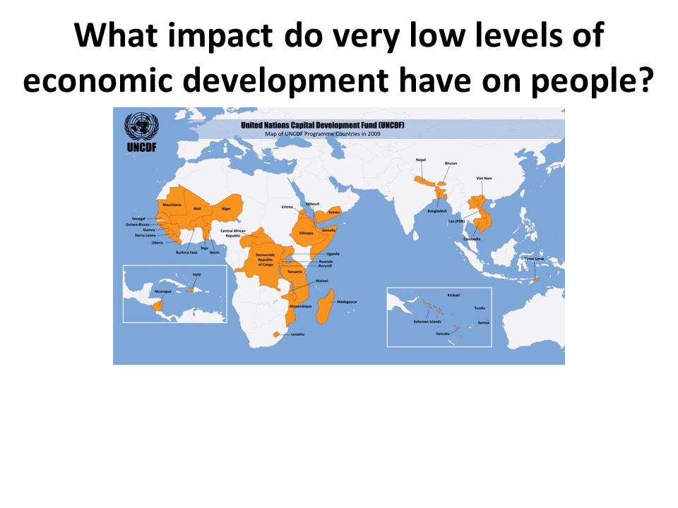 What impact do very low levels of economic development have on people