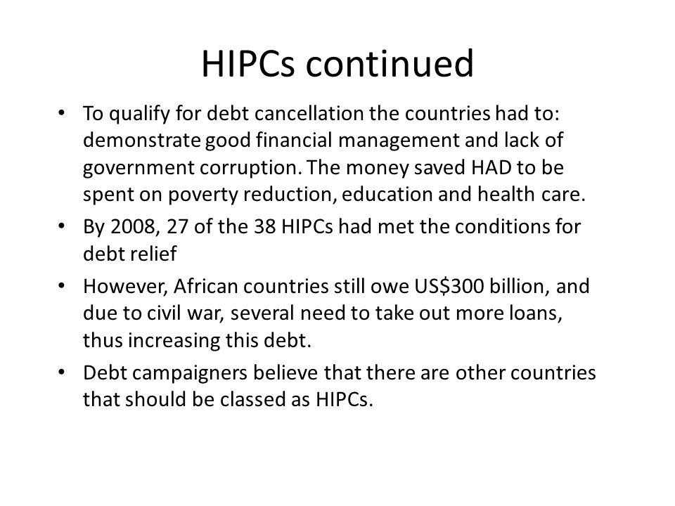 HIPCs continued