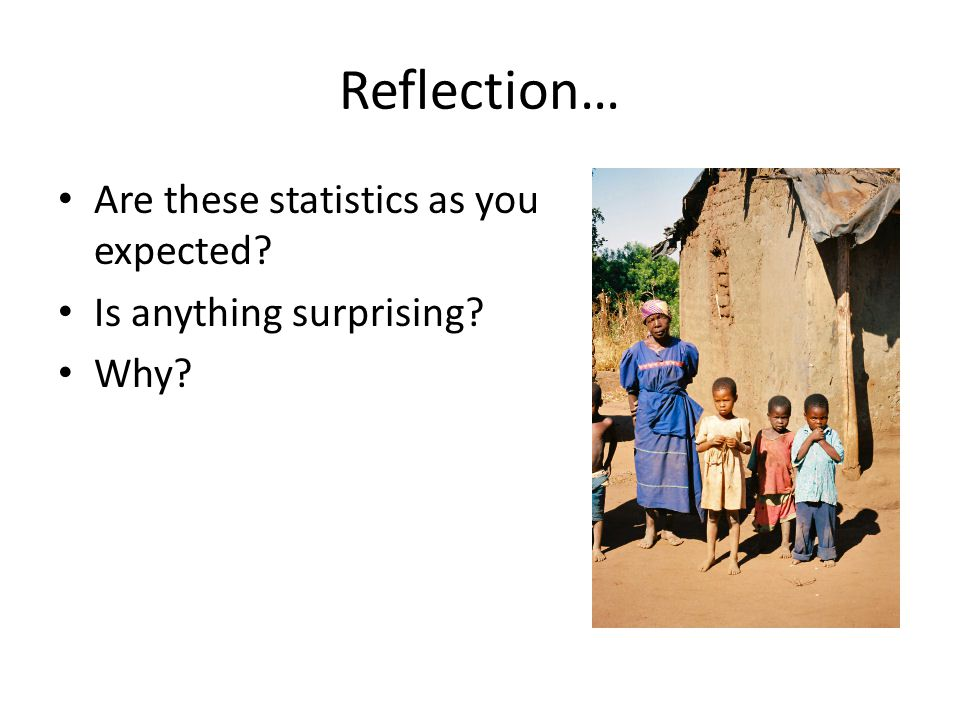 Reflection… Are these statistics as you expected