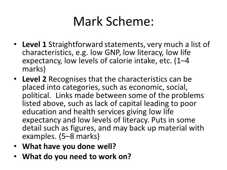 Mark Scheme: