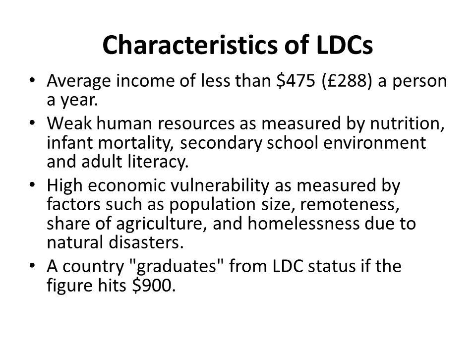 Characteristics of LDCs