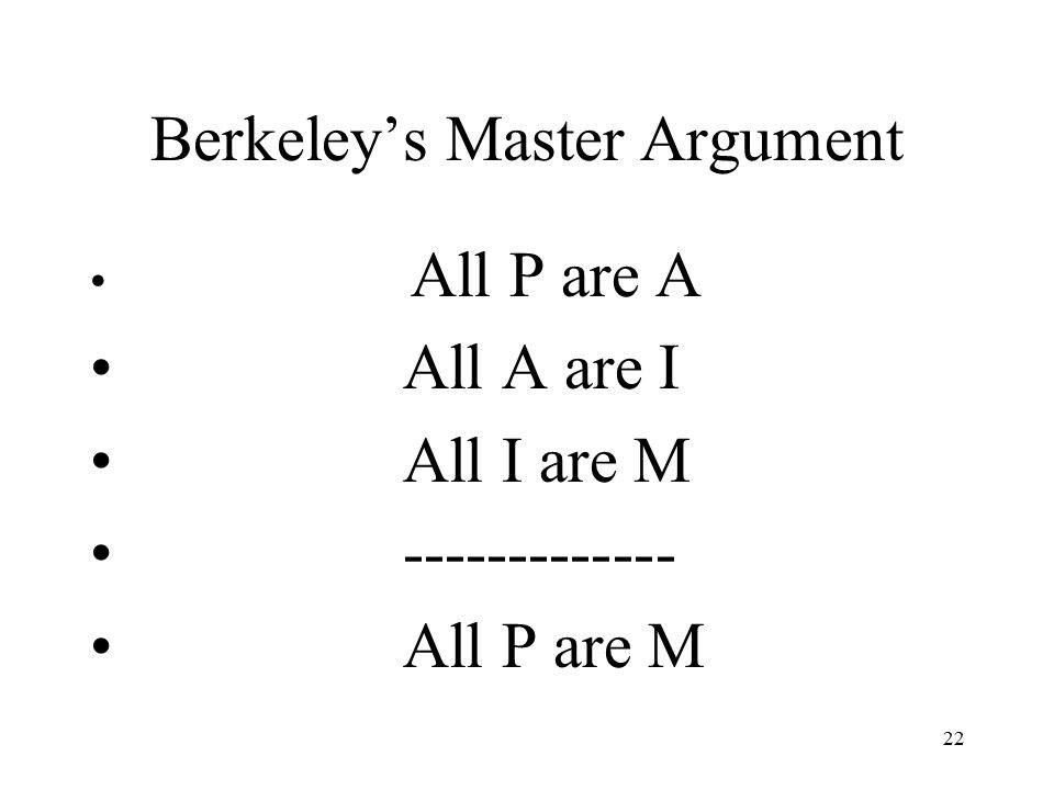 Berkeley's Master Argument