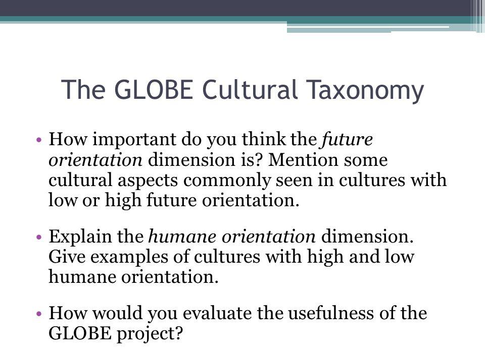 The GLOBE Cultural Taxonomy