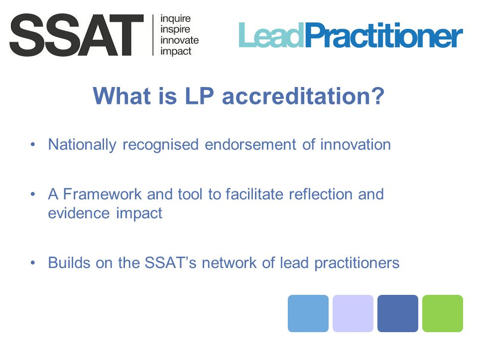 What is LP accreditation