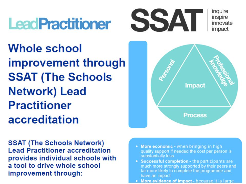 It is a sustainable model to help you drive your vision as a whole school, providing a mechanism to develop consistency of outstanding practice and measurable impact.