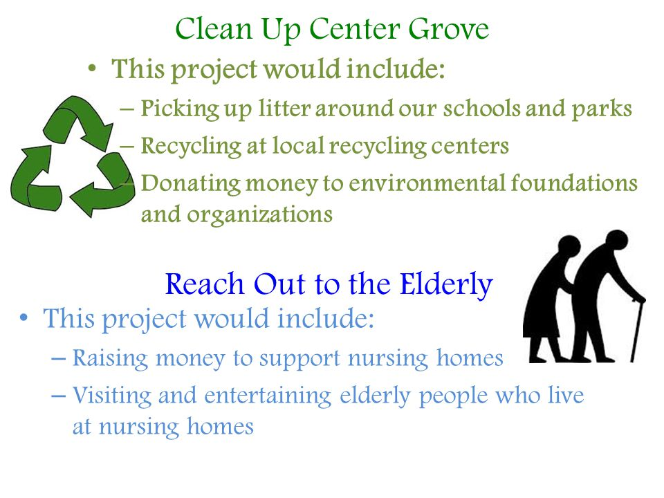 Reach Out to the Elderly