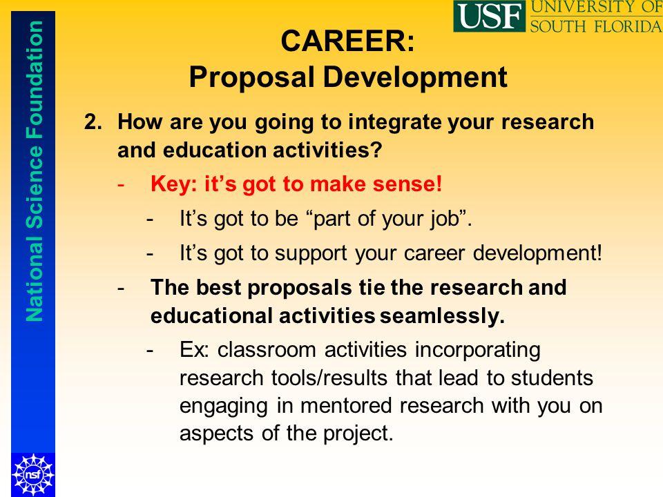 CAREER: Proposal Development