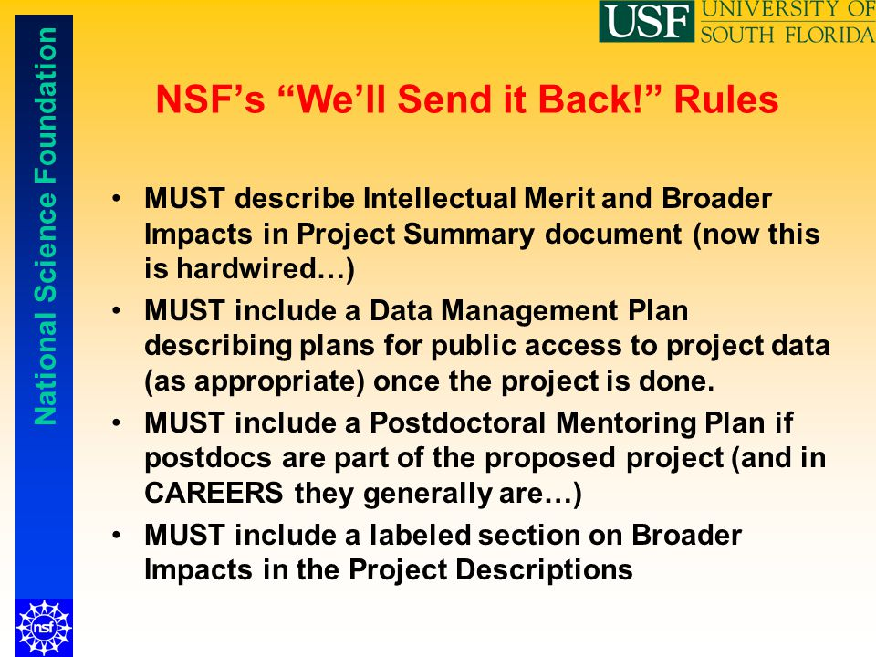 NSF's We'll Send it Back! Rules