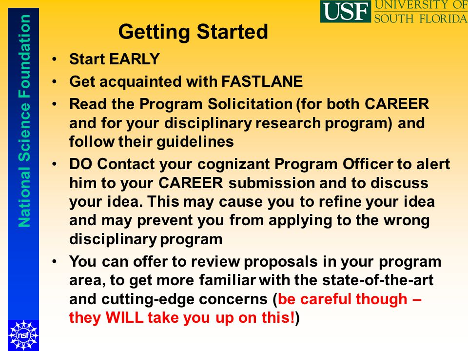 Getting Started Start EARLY Get acquainted with FASTLANE