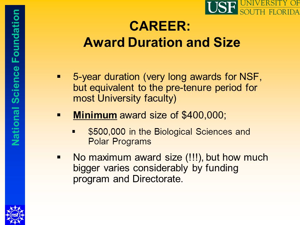 CAREER: Award Duration and Size