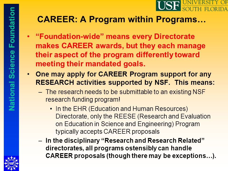 CAREER: A Program within Programs…