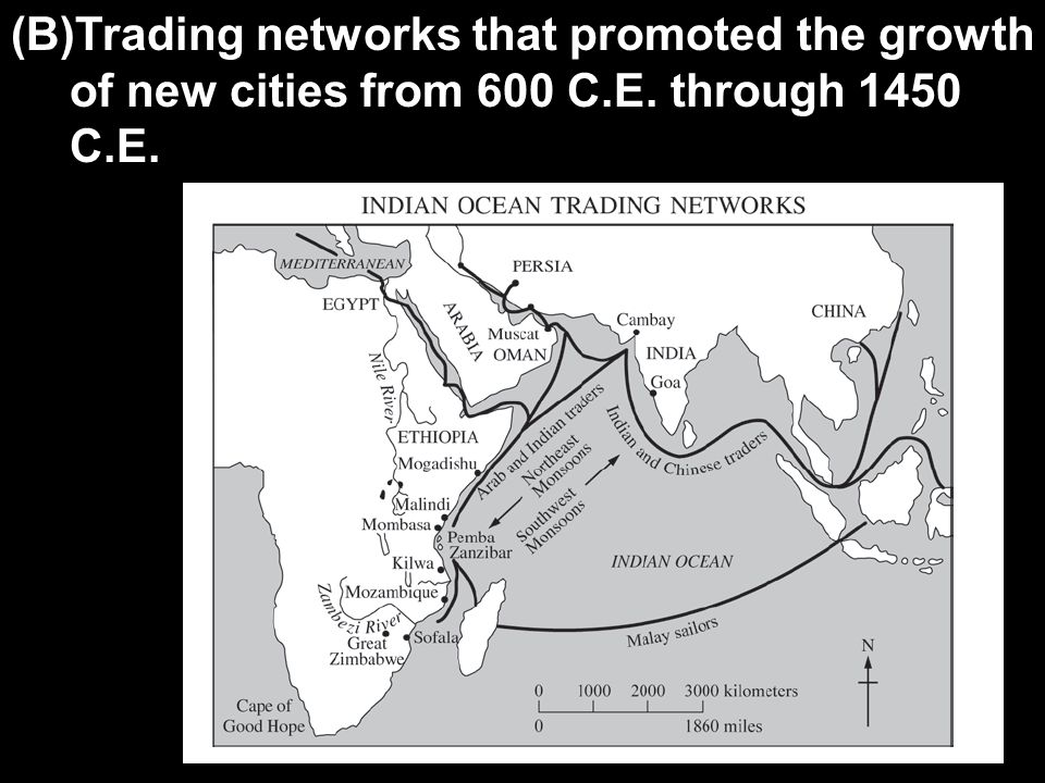 (B)Trading networks that promoted the growth of new cities from 600 C