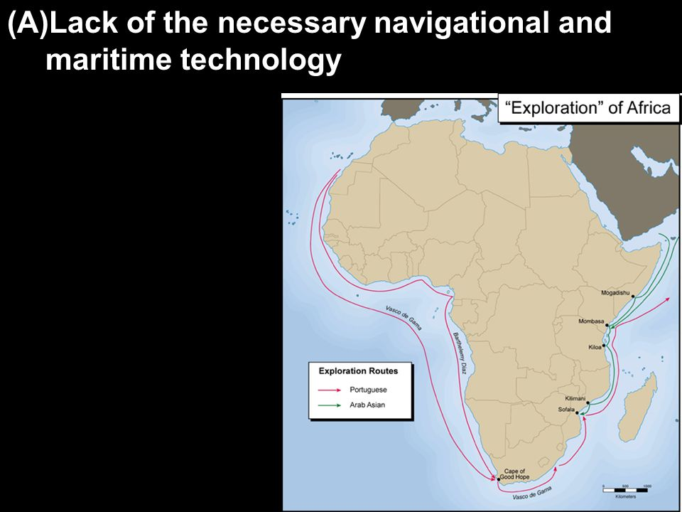 (A)Lack of the necessary navigational and maritime technology