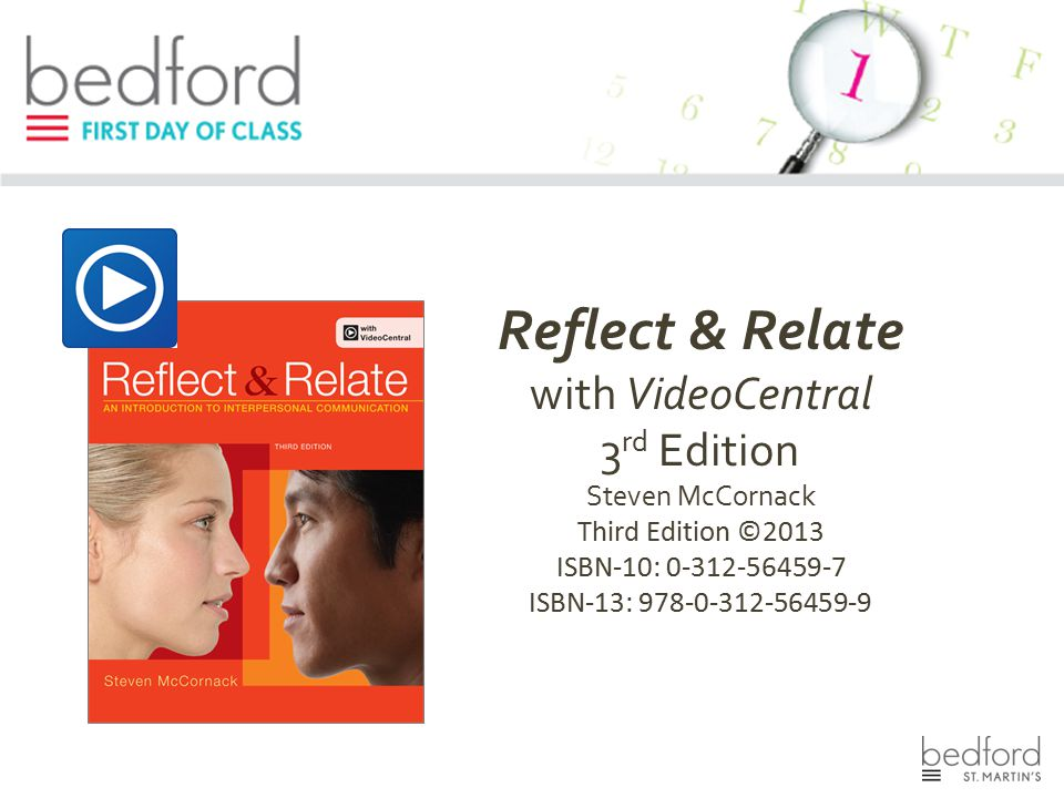 Reflect & Relate with VideoCentral 3rd Edition Steven McCornack