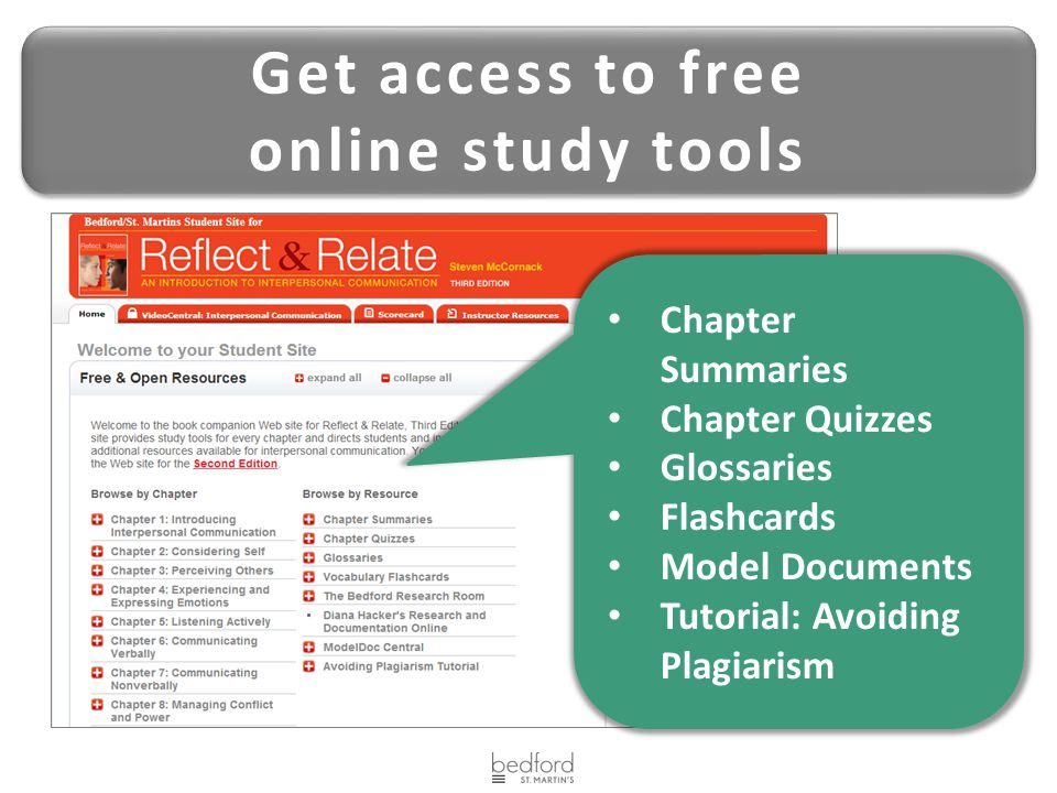 Get access to free online study tools
