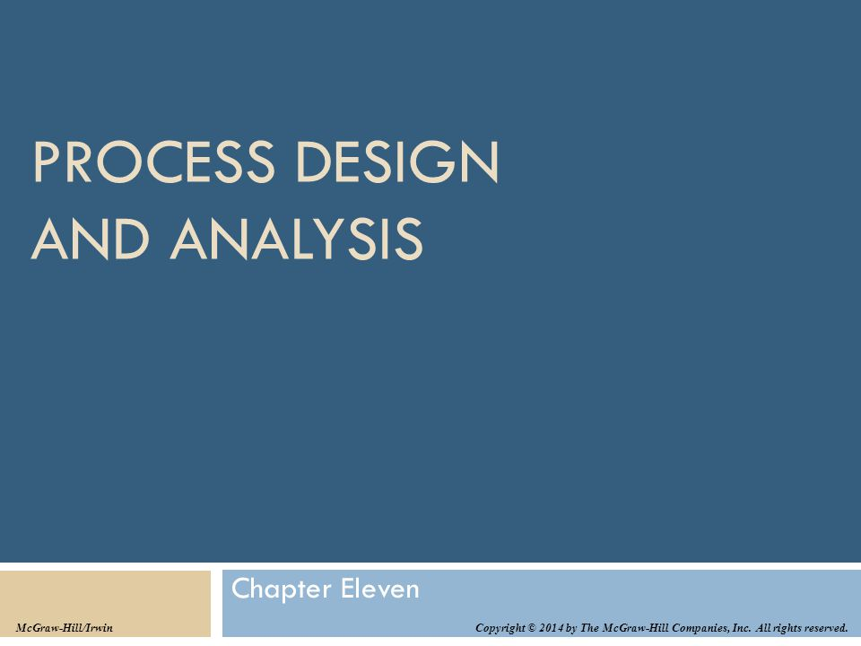 Process Design and Analysis