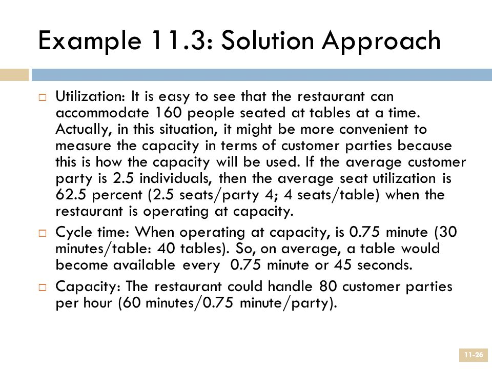 Example 11.3: Solution Approach