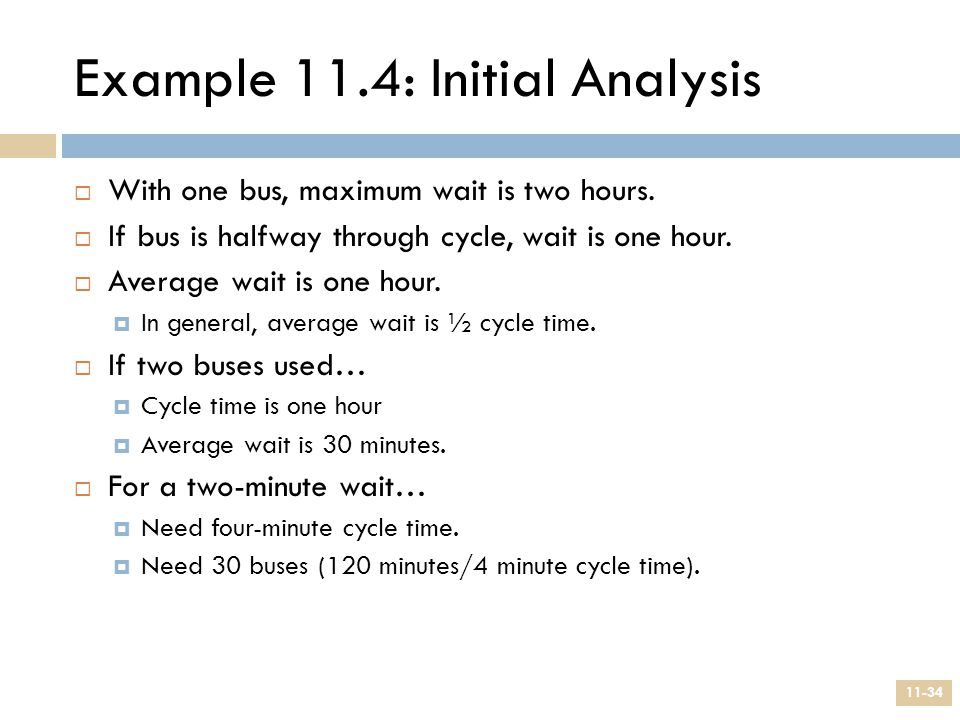 Example 11.4: Initial Analysis
