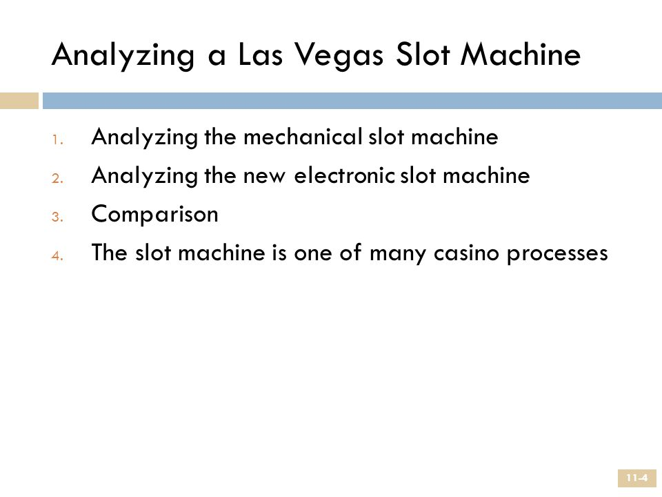 Analyzing a Las Vegas Slot Machine