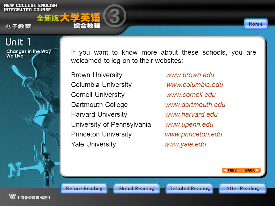 BR3.2 If you want to know more about these schools, you are welcomed to log on to their websites:
