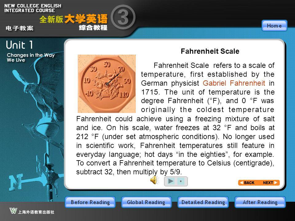 BR4.1 Fahrenheit Scale.