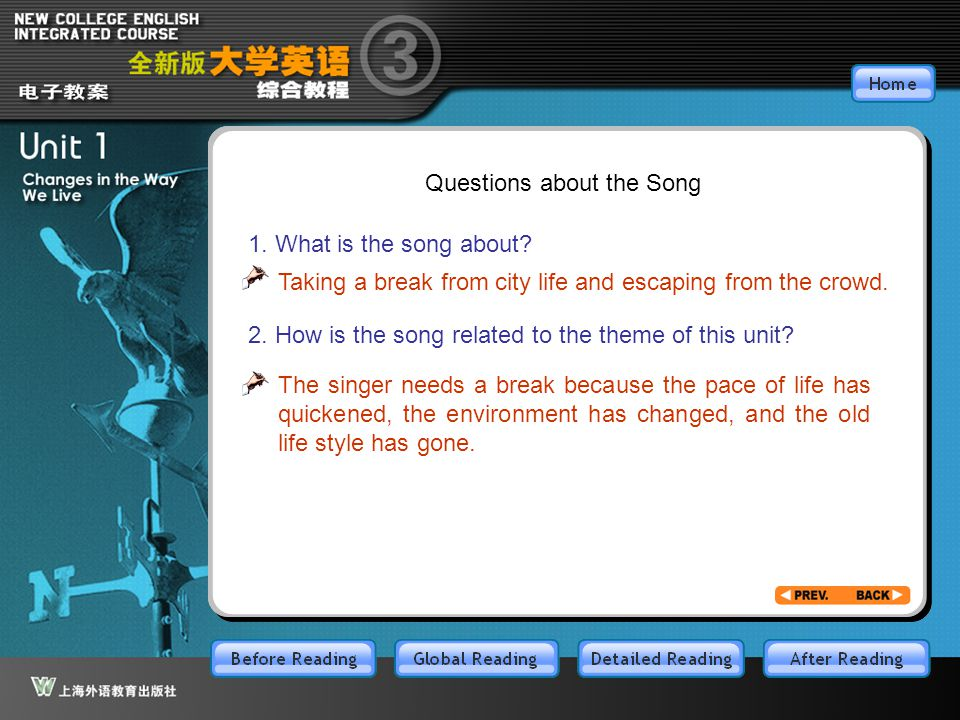 BR1.12 Questions about the Song 1. What is the song about