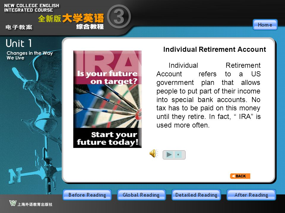 BR7.1 Individual Retirement Account