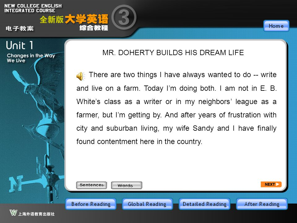 Article1_S MR. DOHERTY BUILDS HIS DREAM LIFE