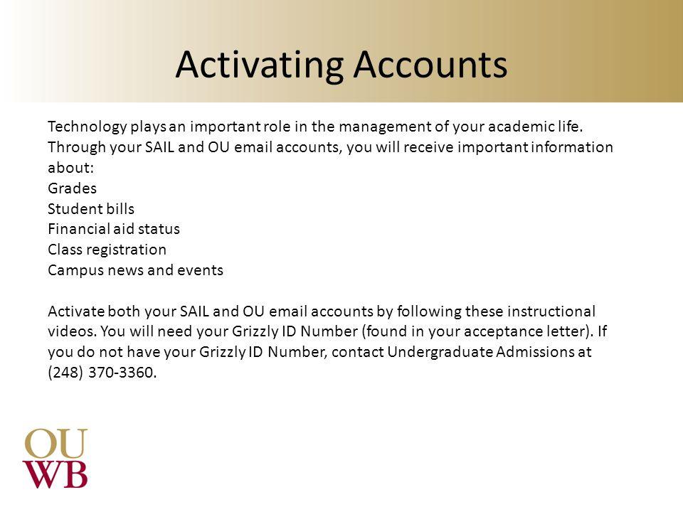 Activating Accounts