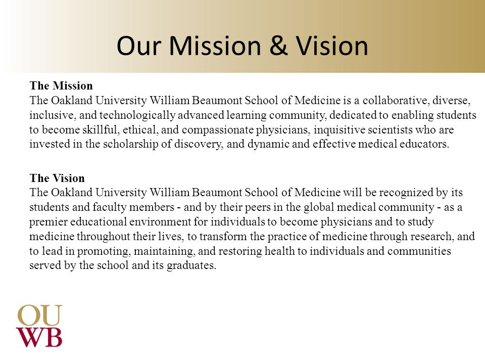 Our Mission & Vision The Mission