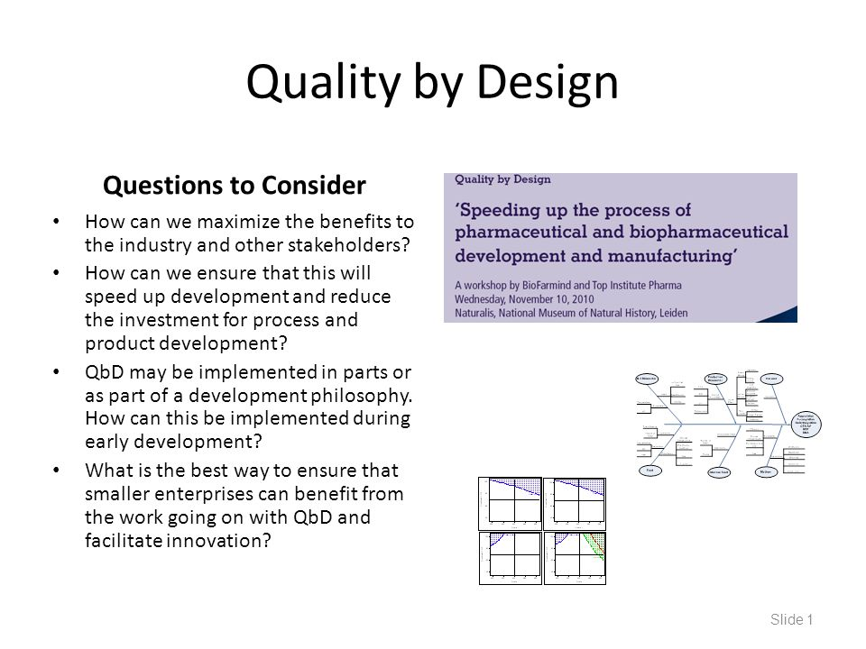 Quality by Design Questions to Consider