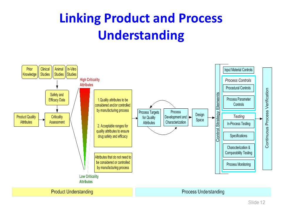 Linking Product and Process Understanding
