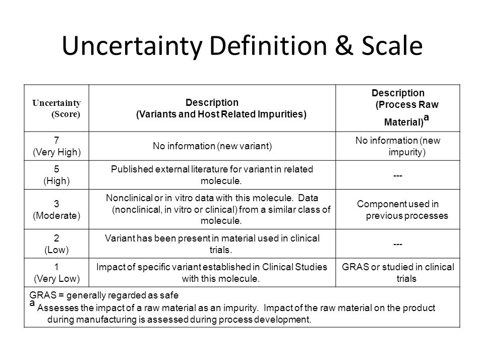 Uncertainty Definition & Scale