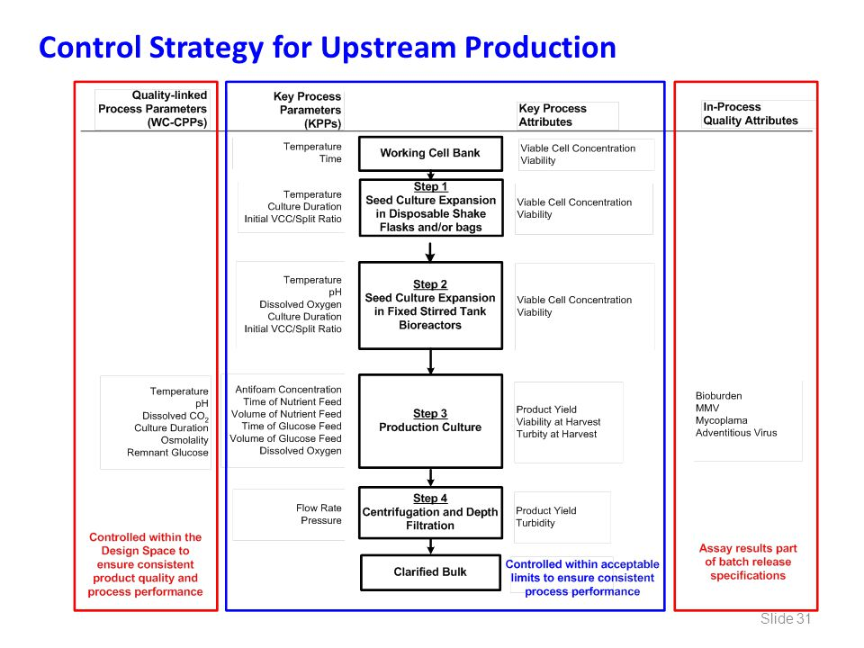 Control Strategy for Upstream Production