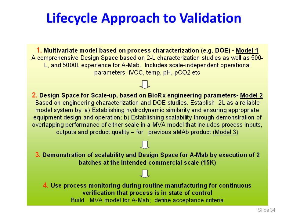 Lifecycle Approach to Validation