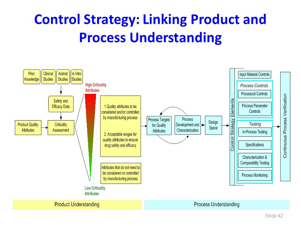 Control Strategy: Linking Product and Process Understanding