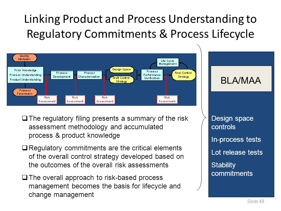 Linking Product and Process Understanding to Regulatory Commitments & Process Lifecycle