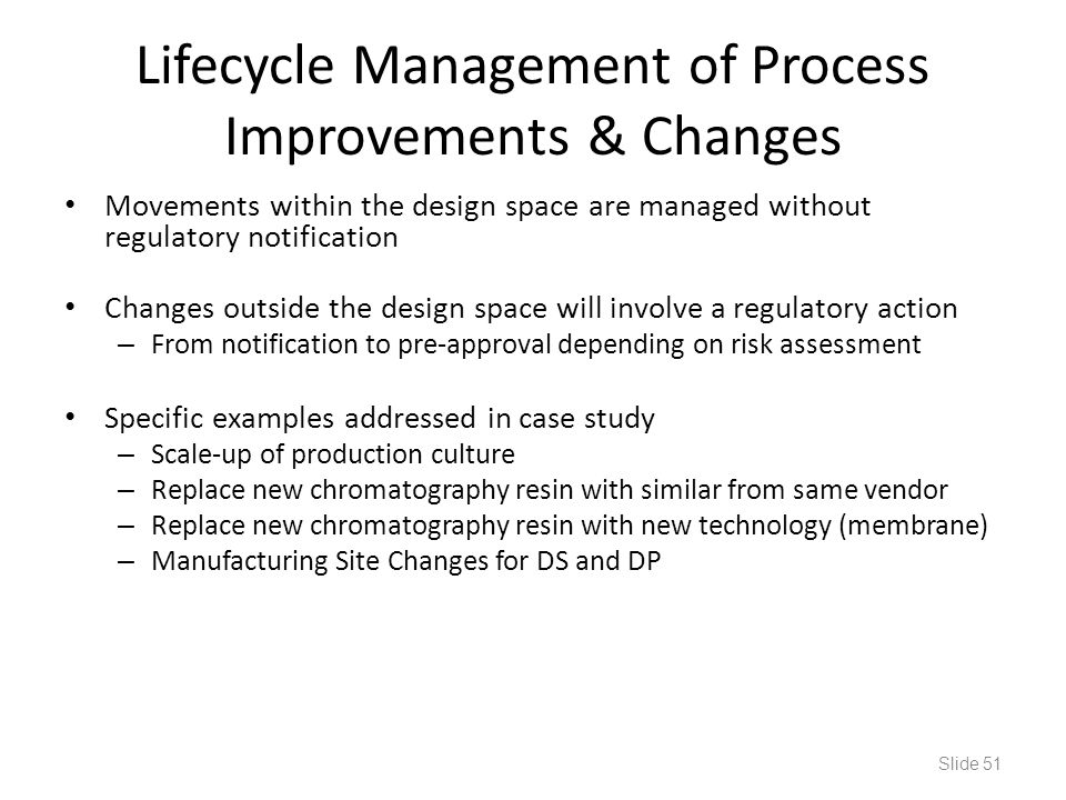 Lifecycle Management of Process Improvements & Changes