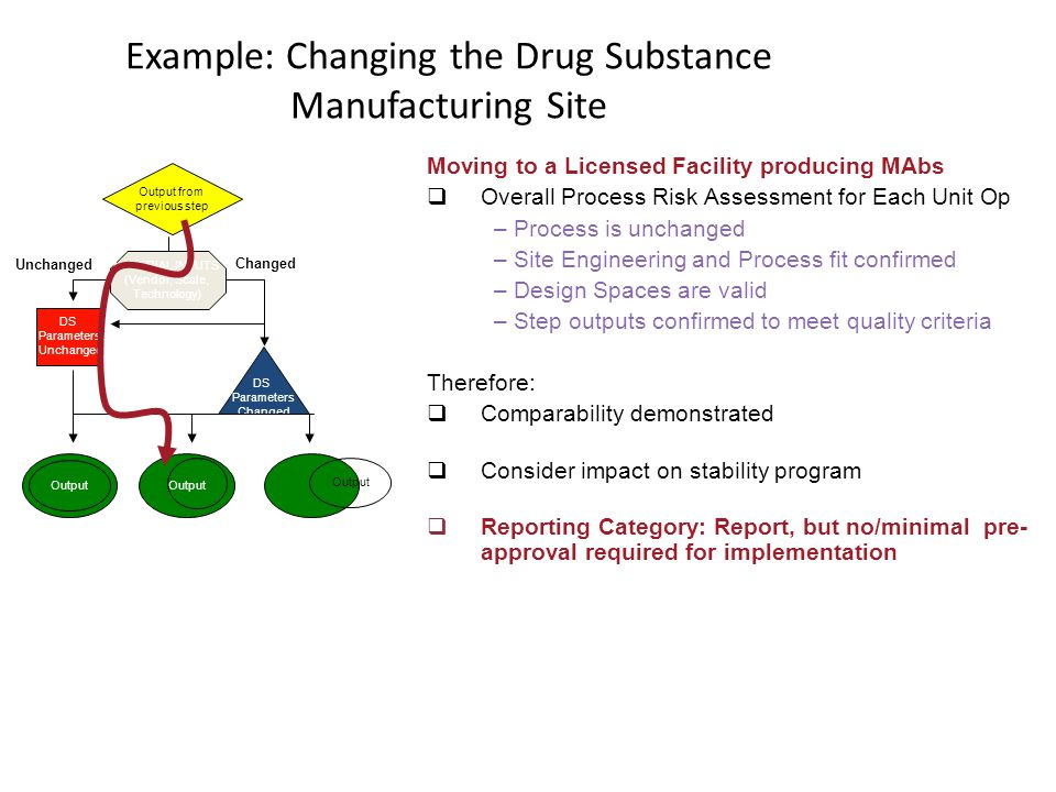 Example: Changing the Drug Substance Manufacturing Site