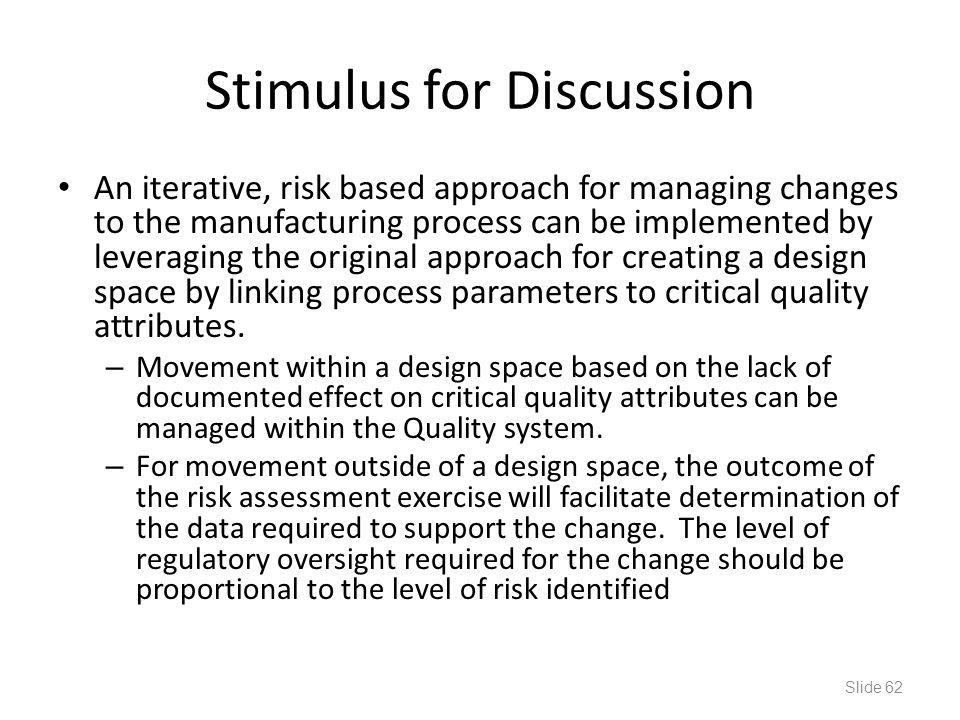 Stimulus for Discussion