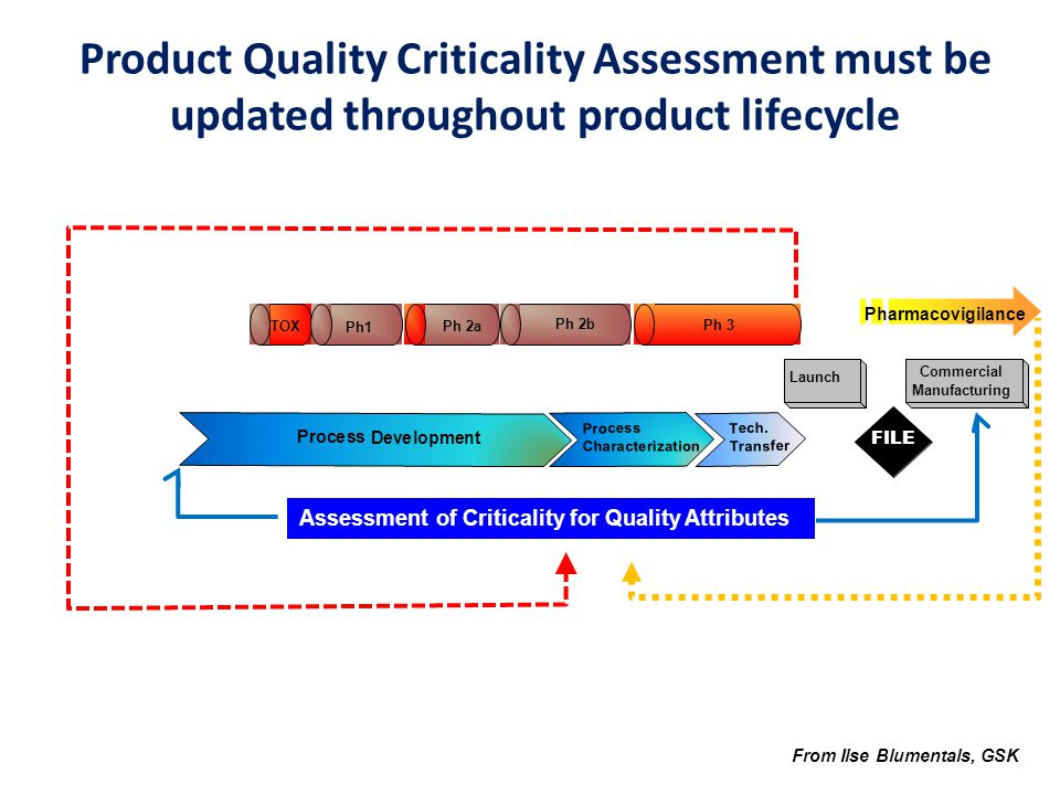 Product Quality Criticality Assessment must be updated throughout product lifecycle